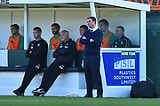 Plymouth Argyle manager Derek Adams in the technical area during the EFL Sky Bet League 1 match between Plymouth Argyle and Burton Albion at Home Park, Plymouth, England on 20 October 2018.