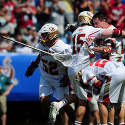 The Denver Pioneers take on the Maryland Terrapins in the 2015 NCAA Men's Lacrosse National Championship Final on May 25, 2015 at Lincoln Financial Field in Philadelphia, Pennsylvania.<br />