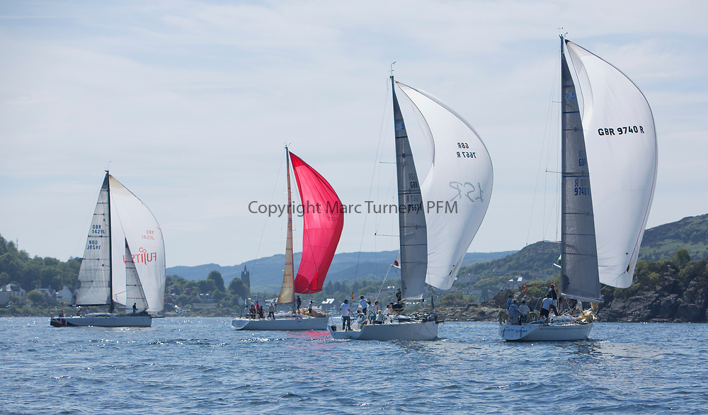 Silvers Marine Scottish Series 2017<br /> Tarbert Loch Fyne - Sailing<br /> <br /> RC35 fleet off Tarbert<br /> <br /> Credit Marc Turner / PFM
