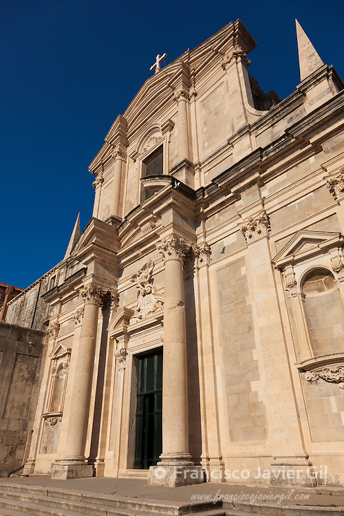 Church of St. Ignatius in the Old Town, UNESCO World Heritage Site, Dubrovnik, Dalmatia, Croatia