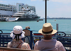 Auckland-Super yacht Serene moored at Queens Wharf