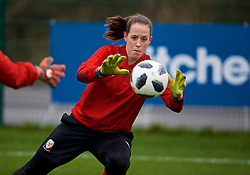 CARDIFF, WALES - Sunday, January 20, 2019: Wales' goalkeeper Laura O'Sullivan during a training session at Dragon Park ahead of the International Friendly game against Italy. (Pic by David Rawcliffe/Propaganda)