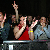 17.9.2003.  Starsailor in concert at the Aberfeldy Town Hall.<br />Front row fans.<br /><br />Picture by John Lindsay .<br />COPYRIGHT: Perthshire Picture Agency.<br />Tel. 01738 623350 / 07775 852112.