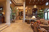 Spacious living room in luxury manor house