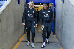 February 23, 2019 - Leicester, England, United Kingdom - Kasper Schmeichel and Wes Morgan of Leicester City arrive for the the Premier League match between Leicester City and Crystal Palace at the King Power Stadium, Leicester on Saturday 23rd February 2019. (Credit Image: © Mi News/NurPhoto via ZUMA Press)