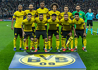Football - 2018 / 2019 UEFA Champions League - Round of Sixteen, First Leg: Tottenham Hotspur vs. Borussia Dortmund<br /> <br /> Borussia Dortmund players pose for the team photo ahead of kick off at Wembley Stadium.<br /> <br /> COLORSPORT/DANIEL BEARHAM