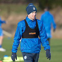 St Johnstone Training….27.12.16<br />Steven MacLean pictured in training this morning at McDiarmid Park ahead of tomorrow's game against Rangers<br />Picture by Graeme Hart.<br />Copyright Perthshire Picture Agency<br />Tel: 01738 623350  Mobile: 07990 594431