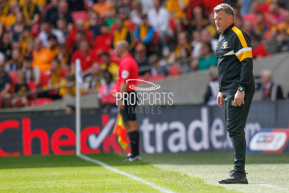 Newport County assistant coach Wayne Hatswell during the EFL Sky Bet League 2 Play Off Final match between Newport County and Tranmere Rovers at Wembley Stadium, London, England on 25 May 2019.