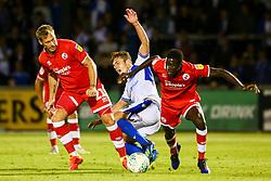 Panutche Camara of Crawley Town tackles Sam Matthews of Bristol Rovers - Mandatory by-line: Ryan Hiscott/JMP - 14/08/2018 - FOOTBALL - Memorial Stadium - Bristol, England - Bristol Rovers v Crawley Town - Carabao Cup