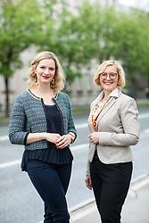 Portraits of Tina Martinec Selan and Mojca Sojar, on May 13, 2019, in Ljubljana, Slovenia. Photo by Vid Ponikvar / Sportida