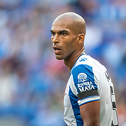 BARCELONA, SPAIN - August 18:  Naldo #5 of Espanyol during the Espanyol V  Sevilla FC, La Liga regular season match at RCDE Stadium on August 18th 2019 in Barcelona, Spain. (Photo by Tim Clayton/Corbis via Getty Images)