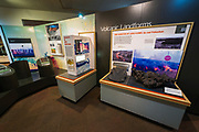 Interpretive displays at the Jaggar Museum, Hawaii Volcanoes National Park, Hawaii USA