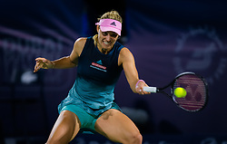 February 19, 2019 - Dubai, ARAB EMIRATES - IAngelique Kerber of Germany in action during her second-round match at the 2019 Dubai Duty Free Tennis Championships WTA Premier 5 tennis tournament (Credit Image: © AFP7 via ZUMA Wire)