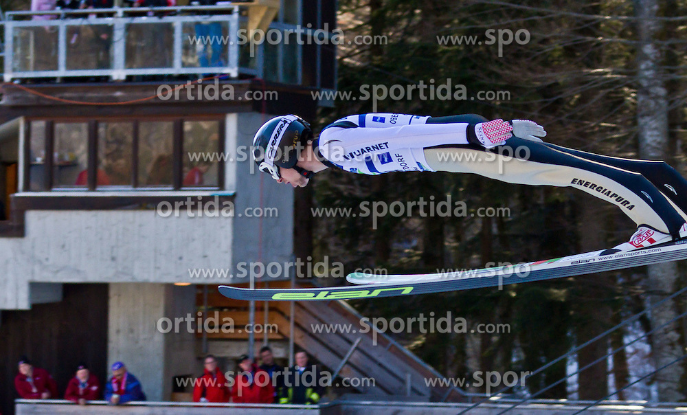 05.02.2011, Heini Klopfer Skiflugschanze, Oberstdorf, GER, FIS World Cup, Ski Jumping, Probedurchgang, im Bild Andrea Morassi (ITA) , during ski jump at the ski jumping world cup Trail round in Oberstdorf, Germany on 05/02/2011, EXPA Pictures © 2011, PhotoCredit: EXPA/ P. Rinderer