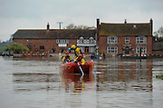 Gloucestershire Fire & Rescue trawl rivers near Tewkesbury on May 1st 2012 as UK record rainfall causes flooding..Photo Times Photographer /Ki Price .....