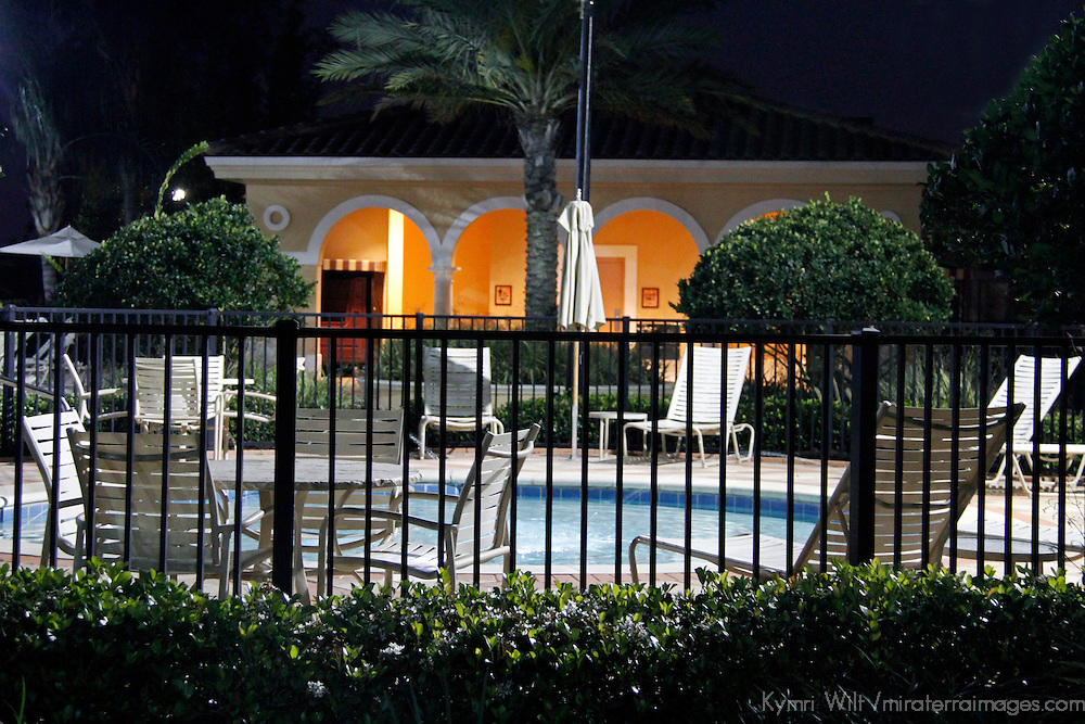 USA, Florida, Orlando. The jacuzzi at  Rosen Shingle Creek Resort.