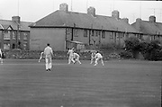 21/05/1966<br /> 05/21/1966<br /> 21 May 1966<br /> Cricket South Leinster XI v North West XI, All Ireland League for Guinness Cup Inaugural Match at Pembroke Cricket Club, Sydney Parade, Dublin. Picture shows North West batsman P. Gillespie (Strabano) batting during the opening stages of the match.