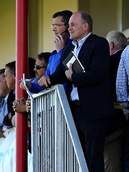Bristol Rugby Director of Rugby Andy Robinson and Bristol Rugby First Team Coach Sean Holley  - Mandatory byline: Joe Meredith/JMP - 07966386802 - 26/09/2015 - RUGBY - St. Peter -Saint Peter,Jersey - Jersey Rugby v Bristol Rugby - Greene King IPA Championship