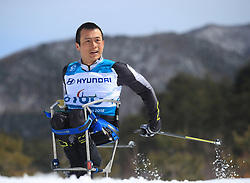 China's Jingfeng Lu competes in the Men's 7.5km, Sitting Cross Country Skiing at the Alpensia Biathlon Centre during day eight of the PyeongChang 2018 Winter Paralympics in South Korea