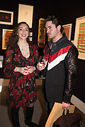 MILLIE FOSTER, KYLE JAMES, `preview evening  in support of The Eve Appeal, a charity dedicated to protecting women from gynaecological cancers. Bonhams Knightsbridge, Montpelier St. London. 29 April 2019