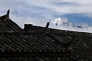 Yulong mountains from Lijiang; Yunnan, China; September, 2013.
