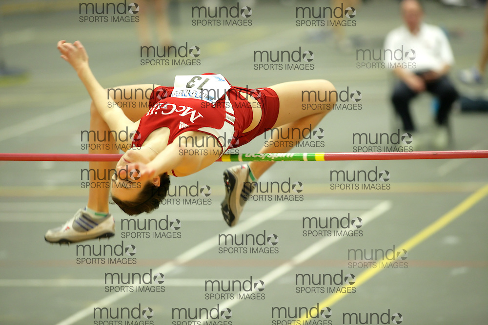 (Windsor, Ontario---11 March 2010) \13\ competes in the pentathlon high jump at the 2010 Canadian Interuniversity Sport Track and Field Championships at the St. Denis Center. Photograph copyright Sean Burges/Mundo Sport Images. www.mundosportimages.com