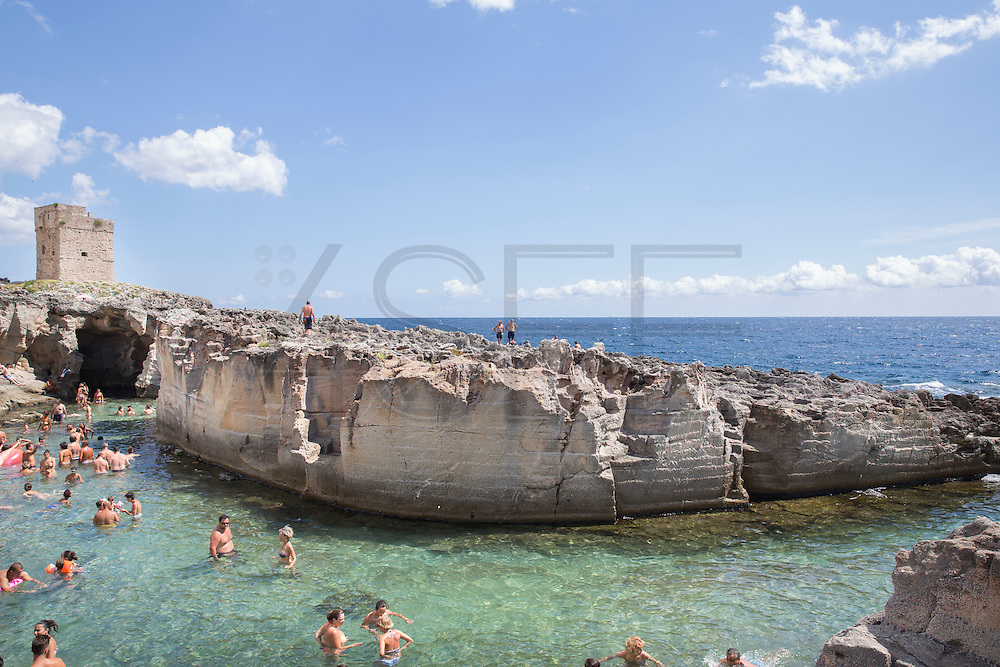 A natural swimming pool on the sea