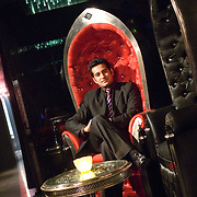 Faisal Nafees, Club Manager, sitting at the VVIP lounge at ELEVATE, Delhi's leading nightclub located at the Center Stage Mall in Noida.
