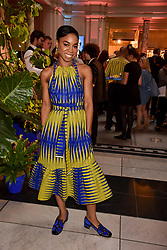"Pippa Bennett-Warner at the opening of ""Frida Kahlo: Making Her Self Up"" Exhibition at the V&A Museum, London England. 13 June 2018."