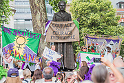 PROCESSIONS by 14-18 NOW and Artichoke - On 6 February 1918, the Representation of the People Act gave the first British women the right to vote. Artichoke, the UK's largest producer of art in the public realm, invited women and girls to mark this moment by taking part in a major mass-participation artwork. They walk together in public processions, forming a living portrait of women in the 21st century and a visual expression of equality. celebrating the fight for suffrage. Text and textiles are at the heart of the project - the public took part in a creative programme of banner-making and 100 artists worked with community groups across the country to deliver expressive banners and iconic artworks.