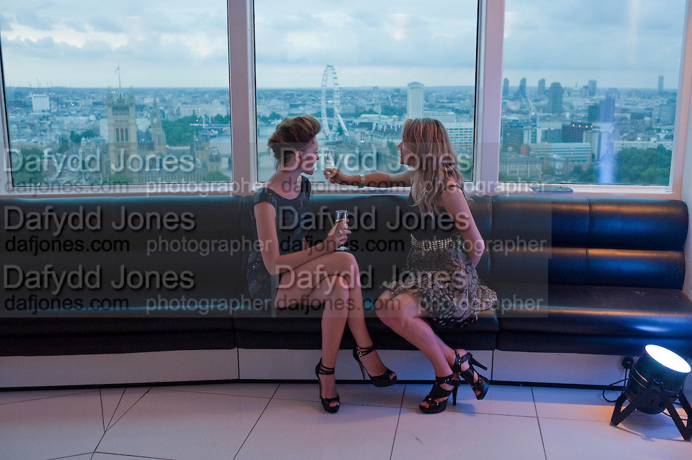 ALEX EVANS; LYDIA ZACHARIS;  THE launch of Coutts london jewelry week. Altitude 360. Millbank.  9 June 2009
