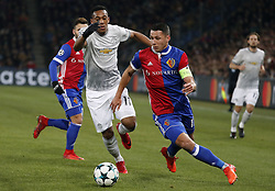 Manchester United Anthony Martial (L) and Basel's Marek Suchy during the UEFA Champions League group A match between Basel and Manchester United in Basel, Switzerland, November 22, 2017. Basel won 1-0. (Credit Image: © Ruben Sprich/Xinhua via ZUMA Wire)