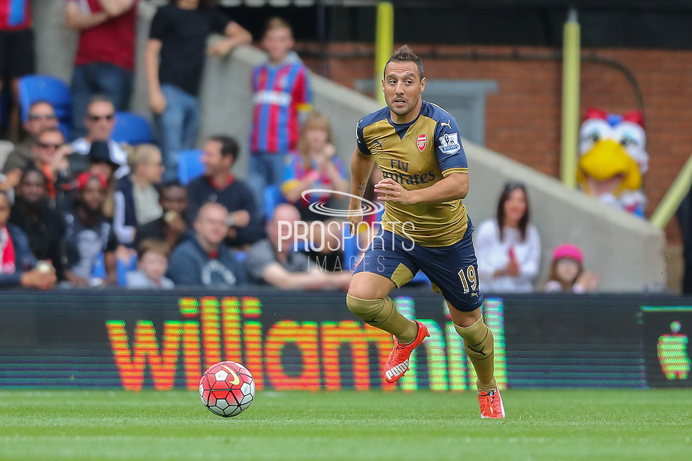 Santi Cazorla of Arsenal during the Barclays Premier League match between Crystal Palace and Arsenal at Selhurst Park, London, England on 16 August 2015. Photo by Ellie Hoad.