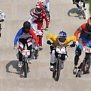Sam Willoughby, Australia, (front, centre) in action during the Cycling BMX Finals Day during the London 2012 Olympic games. London, UK. 10th August 2012. Photo Tim Clayton