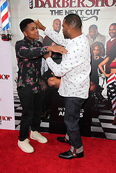 """Anthonly Anderson, son, at the """"Barbershop The Next Cut"""" Premiere, TCL Chinese Theater, Hollywood, CA 04-06-16. EXPA Pictures © 2016, PhotoCredit: EXPA/ Photoshot/ Martin Sloan<br /> <br /> *****ATTENTION - for AUT, SLO, CRO, SRB, BIH, MAZ, SUI only*****"""