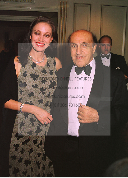 MR & MRS JACK DELLAL he is the multi millionaire, at a ball in London on 8th November 1998.MLP 99