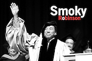 Smoky Robinson says good bye to the  graduates at  the Berklee's Commencement 2009. Robison received an honorary degree for his achievements and influence in music..