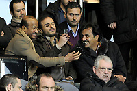 FOOTBALL - FRENCH CHAMPIONSHIP 2011/2012 - L1 - PARIS SAINT GERMAIN v MONTPELLIER HSC  - 19/02/2012 - PHOTO JEAN MARIE HERVIO / REGAMEDIA / DPPI - TAMIM BIN HAMAD AL-THANI (PSG OWNER)