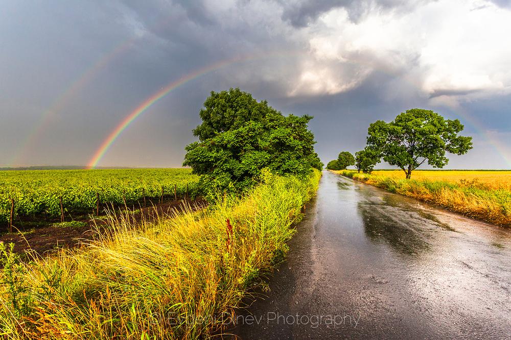 Double rainbow after the rain