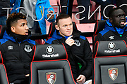 Wayne Rooney (10) of Everton on the bench during the Premier League match between Bournemouth and Everton at the Vitality Stadium, Bournemouth, England on 30 December 2017. Photo by Graham Hunt.