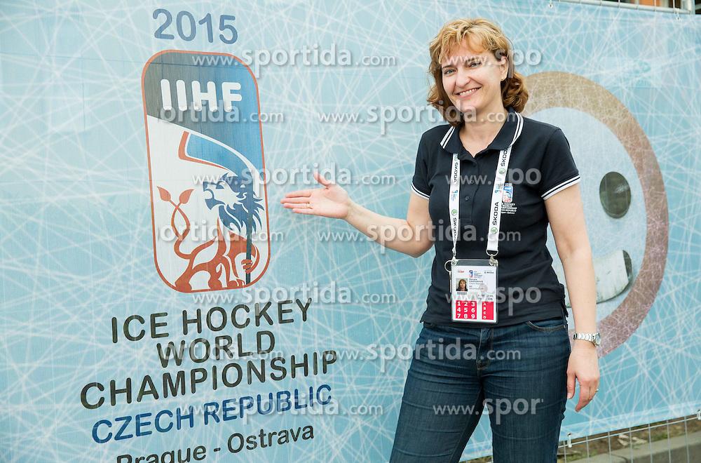 Renata Kasparova, Security Chief posing at Day 5 of 2015 IIHF World Championship, on May 5, 2015 in CEZ Arena, Ostrava, Czech Republic. Photo by Vid Ponikvar / Sportida