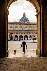 Entrance arch to the Biblioteca Salaborsa, Piazza del Nettuno, Bologna, Italy<br /> <br /> (c) Andrew Wilson | Edinburgh Elite media