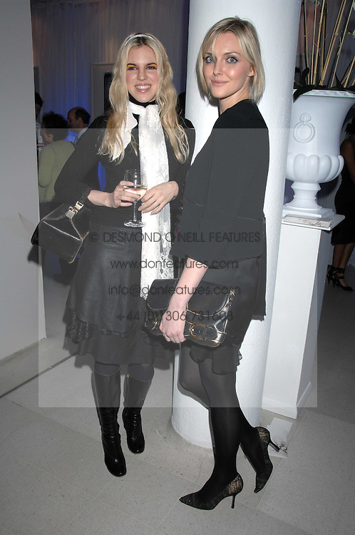 Left to right, ALEXANDRA AITKEN and SOPHIE DAHL attending the Tag Heuer party where an exhibition of photographs by Mary McCartney celebrating 15 exception women from 15 countries was unveiled at the Royal College of Arts, Kensington Gore, London on 8th February 2007.<br />