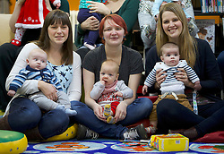 Jack and Olivia have been named as the most popular first forenames for babies whose births were registered in Scotland during 2016 by National Records of Scotland. <br /> <br /> Jack has been the most popular boys name for nine consecutive years. Olivia replaces Emily to become the top girls name.<br /> <br /> Pictured: Jack McMillan (3 months) with mum Hazel, Jack Lennox (8 months) with mum Amy and Jack O'Shea (5 months) with mum Jenny
