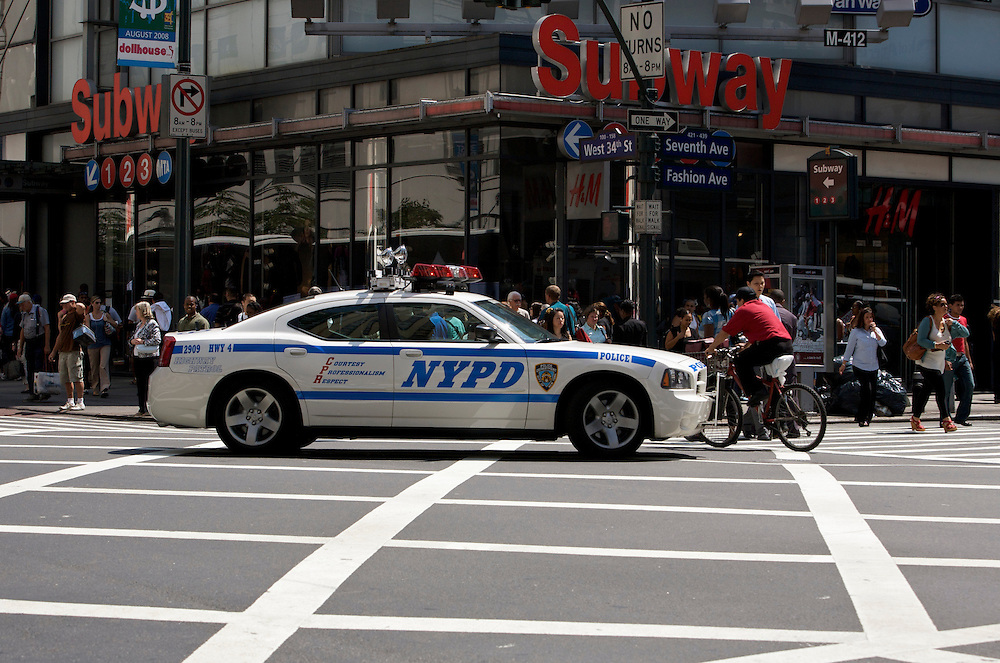 UNITED STATES-NEW YORK-Police car. PHOTO: GERRIT DE HEUS..VERENIGDE STATEN-NEW YORK. Een politiewagen in New York. PHOTO  GERRIT DE HEUS
