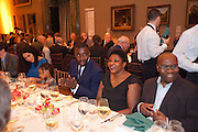 CHRIS OFILI; HIS MOTHER; MAY OFILI, Chris Ofili dinner to celebrate the opening of his exhibition. Tate. London. 25 January 2010