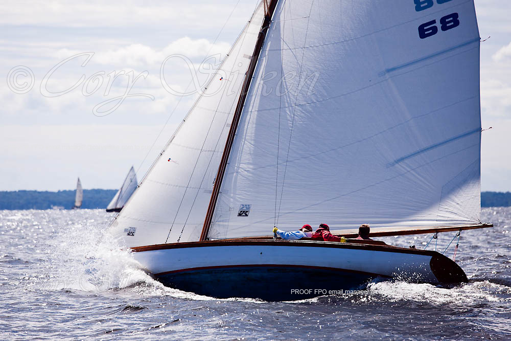 Danae, S Class, sailing in the Indian Harbor Classic Yacht Regatta.