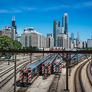 Metra tracks near Soldier Field in Chicago. Photo by Alabastro Photography.