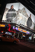 Atmosphere at The WeatherProof Ad featuring an image of President Barack Obama on a visit to China on January 8, 2010 in Times Square, New York City.