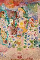 France, Paris (75), Musee Picasso, Le retour du bapteme, d'apres Le Nain, 1917 // France, Paris, Picasso museum, Le retour du bapteme, after Le Nain, 1917